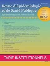 Subscription Revue d'épidémiologie et de santé publique