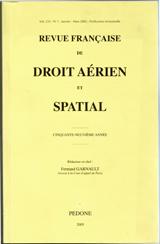 Subscription Revue française de droit aérien spatial