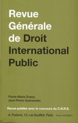 Subscription Revue générale de droit international public