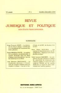 Subscription Revue juridique et politique des états francophones