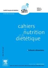 Subscription Cahiers de nutrition et de diététique