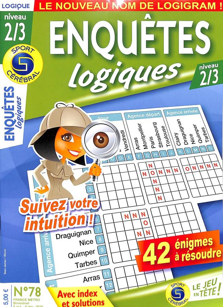 Subscription Enquêtes Logiques Niveau 2/3