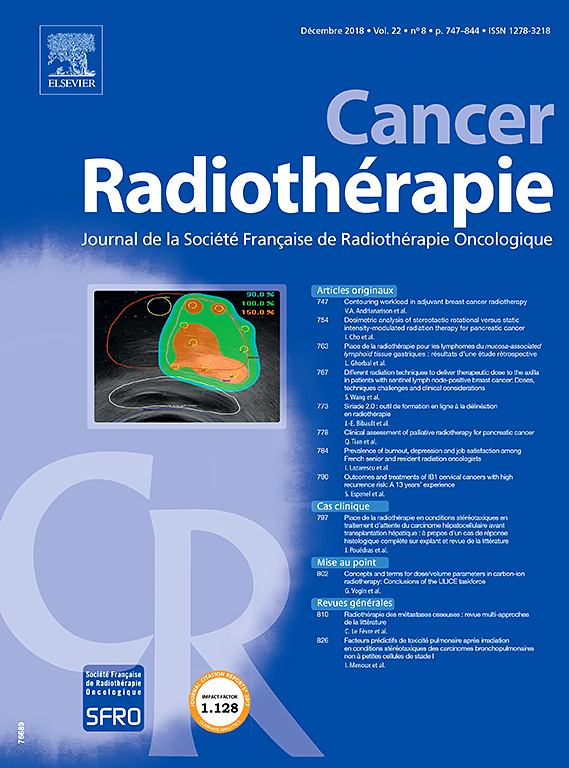 Subscription Cancer / radiothérapie