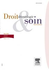 Subscription Droit, déontologie et soin