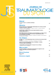 Subscription Journal de traumatologie du sport