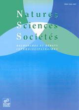 Subscription Natures Sciences Sociétés