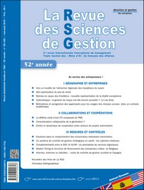 Subscription La Revue des sciences de gestion