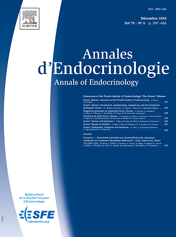Subscription Annales d'endocrinologie