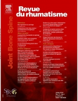 Subscription Revue du rhumatisme