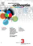 Subscription Revue francophone d'orthoptie