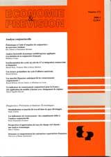 Subscription Economie et prévision