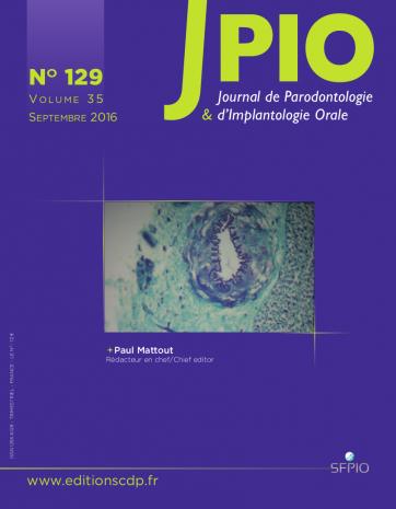 Subscription Journal de parodontologie et d'implantologie