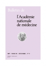 Subscription Bulletin de l'académie nationale de médecine