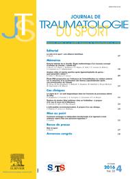 Subscription Journal de traumatologie du sport
