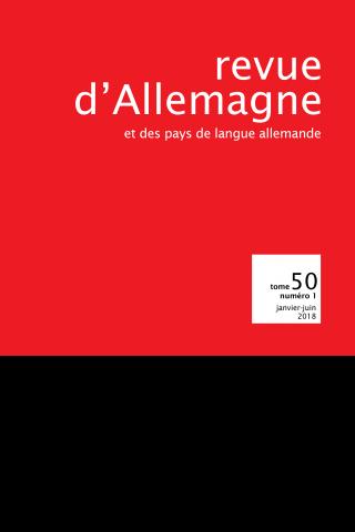 Subscription Revue d'Allemagne et des pays de langue allemande