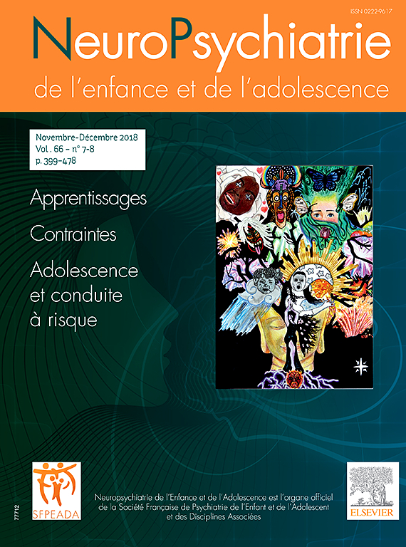 Subscription Neuropsychatrie de l'enfance et de l'adolescence