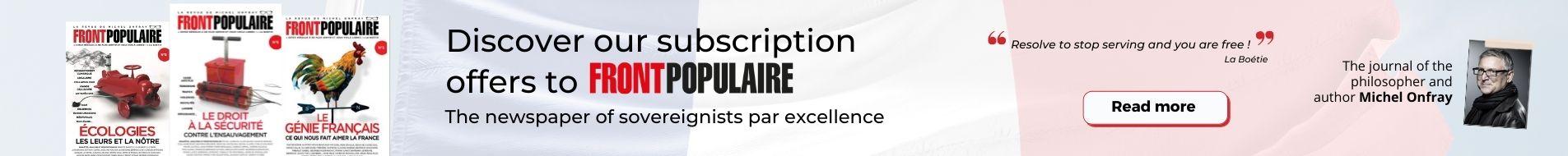 Front Populaire Magazine Subscription
